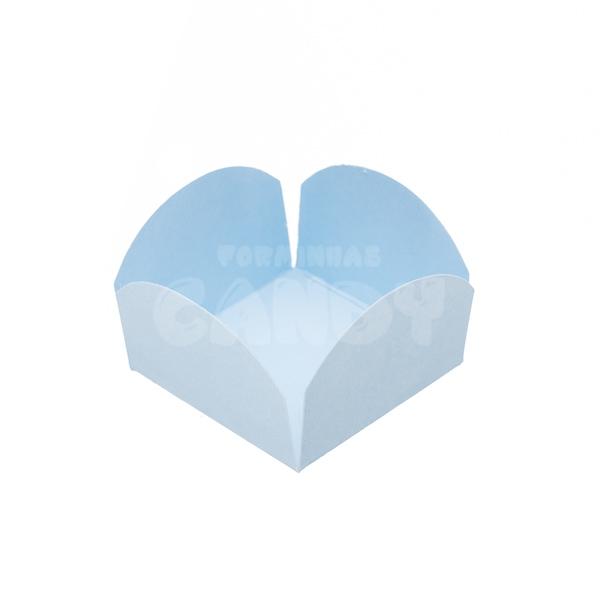 Forminha Para Doces Candy Azul Bebê 50 Unidades