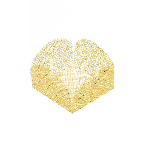 amarelo com fio ouro